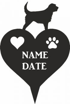 Otterhound Heart Memorial Plaque
