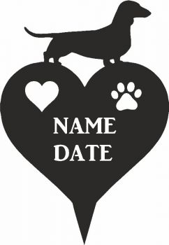 Smooth Coated Daxi Heart Memorial Plaque
