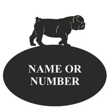 British Bull Dog Oval House Plaque - Regular
