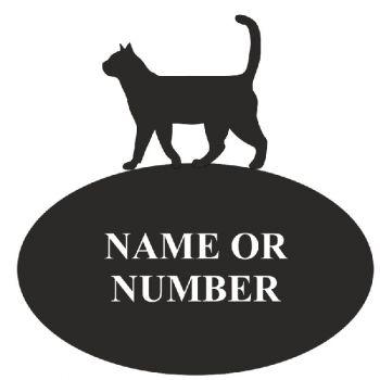 Cat Oval House Plaque - 3 - Regular