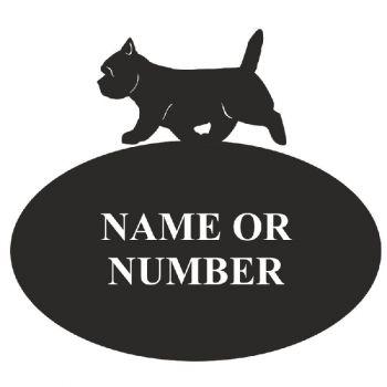 Cairn Terrier Oval House Plaque - Regular