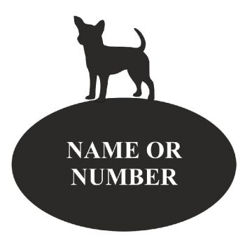 Chihuahua Oval House Plaque - Regular