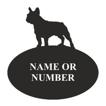 French Bull Dog Oval House Plaque - Regular