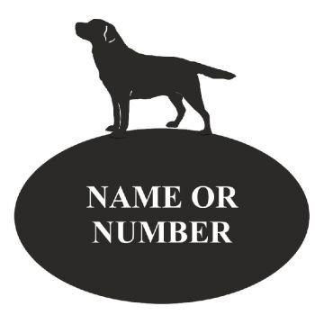 Labrador Oval House Plaque - Regular