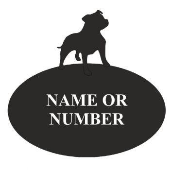 Staffordshire Bull Terrier Oval House Plaque - Regular
