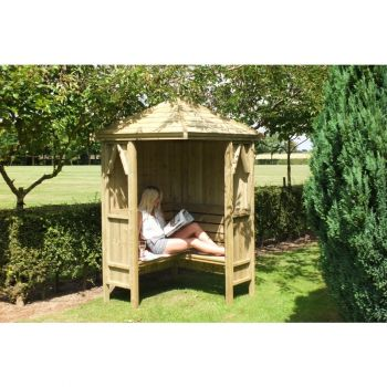 Honeysuckle Corner Arbour Garden Arch Seat Approx 4 x 4 Feet