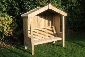 Cottage Arbour - Seats Three, wooden garden bench