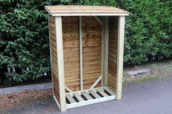 Heavy Duty Logstore 6ft High X 4ft Wide - Firewood Storage Shelter