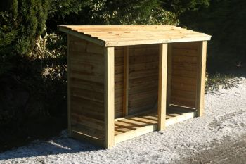 Heavy Duty Logstore 4ft High X 6ft Wide - Firewood storage shelter