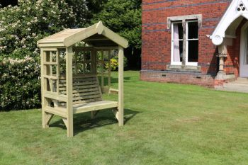 Cottage Arbour- Trellis Back And Sides - Sits 2, wooden garden bench seat with trellis