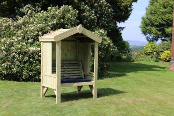 Cottage Arbour - Seats 2, wooden garden bench
