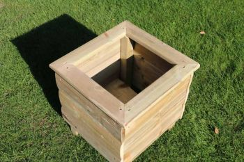 Square Planters, wooden garden pot/tub for plants – FULLY ASSEMBLED