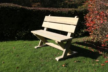 Ashcome Bench, traditional wooden garden seat