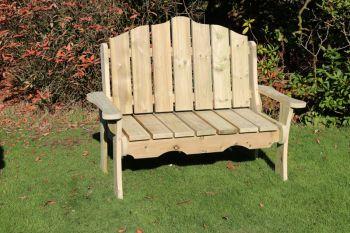 Alton Manor Wooden Bench, Garden seat