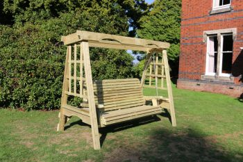 Cottage Swing - Sits 3, wooden garden swinging seat hammock
