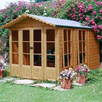 Kensington 7' x 10' Double Door with Large Opening Window Summerhouse