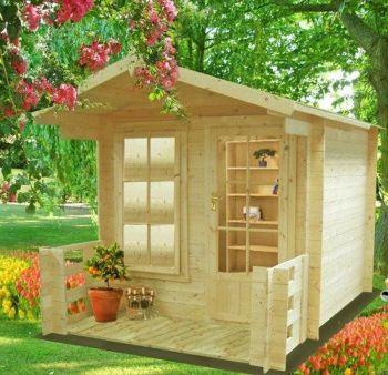 Maulden with veranda Log Cabin Home Office Garden Room Approx 7 x 7 Feet