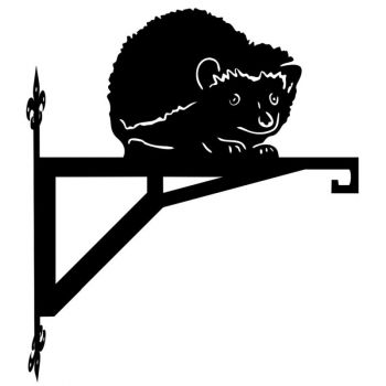 Hedgehog Looking Modern Contemporary Hanging Bracket