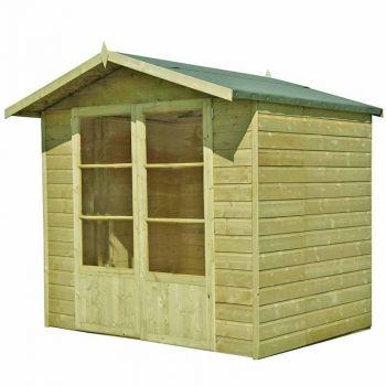 Mumley 7' x 5' Pressure Treated Double Door Summerhouse