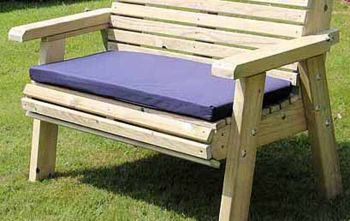 Waterproof Seat Pads - Double Navy Cushion