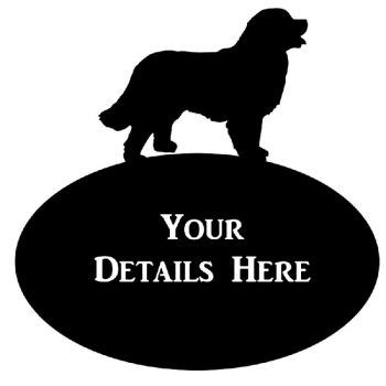 Bernese Mountain Dog House Plaque Oval - Large
