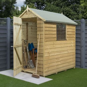 6x4 Overlap Presssure Treated Shed