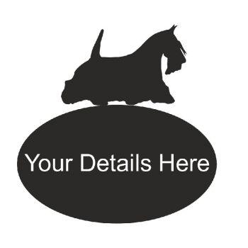 Scottie Dog Oval House Plaque - Regular