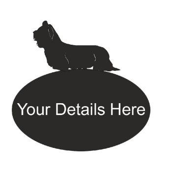 Skye Terrier Oval House Plaque - Regular