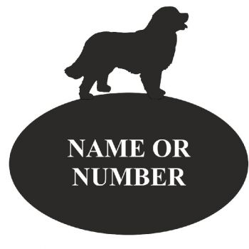 Bernese Mountain Dog House Oval Plaque - Large
