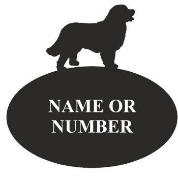Bernese Mountain Dog House Oval Plaque - Regular