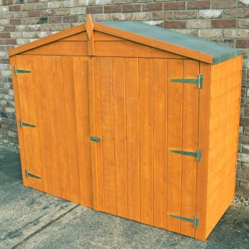 Bike Store Garden Shed - Dip Treated Approx 7 x 3 Feet