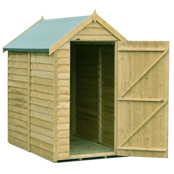 Overlap 6' x 4' Pressure Treated Value Range Shed Single Door