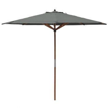 Willington Grey 2.7m Wooden Parasol