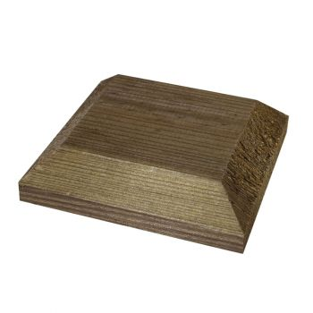 Post Cap Brown ONLY AVAILABLE WITH A PURCHASE OF 3 FENCE PANELS