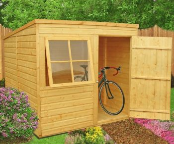Pent Single Door Tongue and Groove Garden Shed Workshop Approx 7 x 7 Feet
