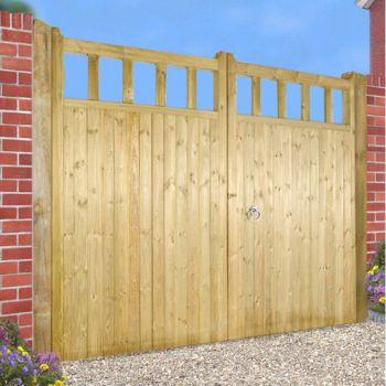 Quorn Garden Tall Double Gate 360cm Wide x 180cm High
