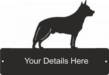 Australian Cattle Dog 1 Rectangular Gate Plaque