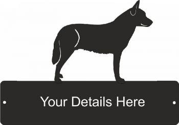 Australian Cattle Dog 2 Rectangular Gate Plaque