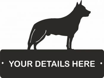 Australian Cattle Dog Rectangular Gate Plaque