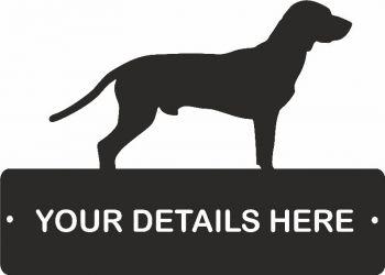 Bavarian Mountain Dog Rectangular Gate Plaque
