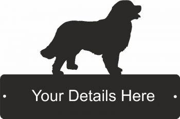 Bernese Mountain Dog Rectangular Gate Plaque