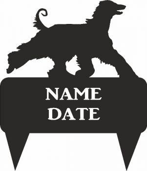 Afghan Hound Rectangular Memorial Plaque - Regular