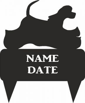 American Cocker Spaniel Rectangular Memorial Plaque - Regular
