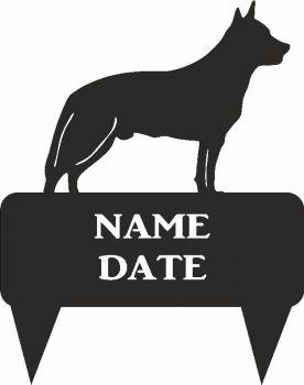 Australian Cattle Dog Rectangular Memorial Plaque - Large