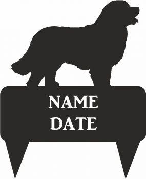 Bernese Mountain Dog Rectangular Memorial Plaque - Large