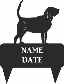 Bloodhound Rectangular Memorial Plaque - Regular
