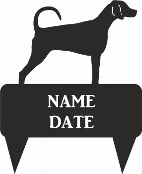 Doberman Rectangular Memorial Plaque - Regular