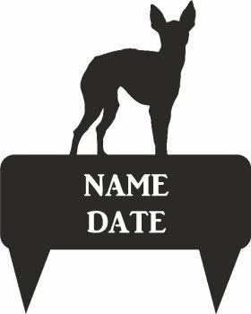 English Toy Terrier Rectangular Memorial Plaque - Regular