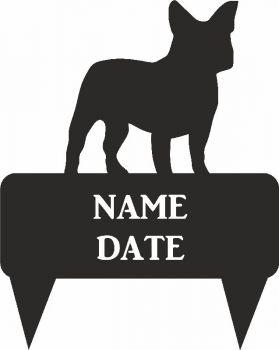 French Bull Dog Rectangular Memorial Plaque  - Regular