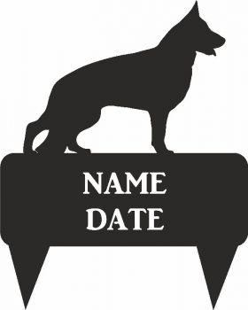 German Shepherd Rectangular Memorial Plaque - Regular
